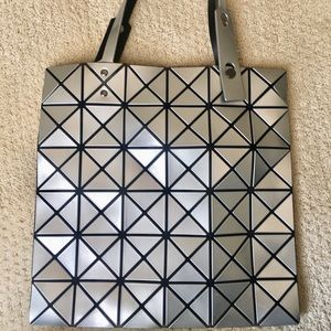 Issey Miyake Bao Bao Prism Tote in Silver